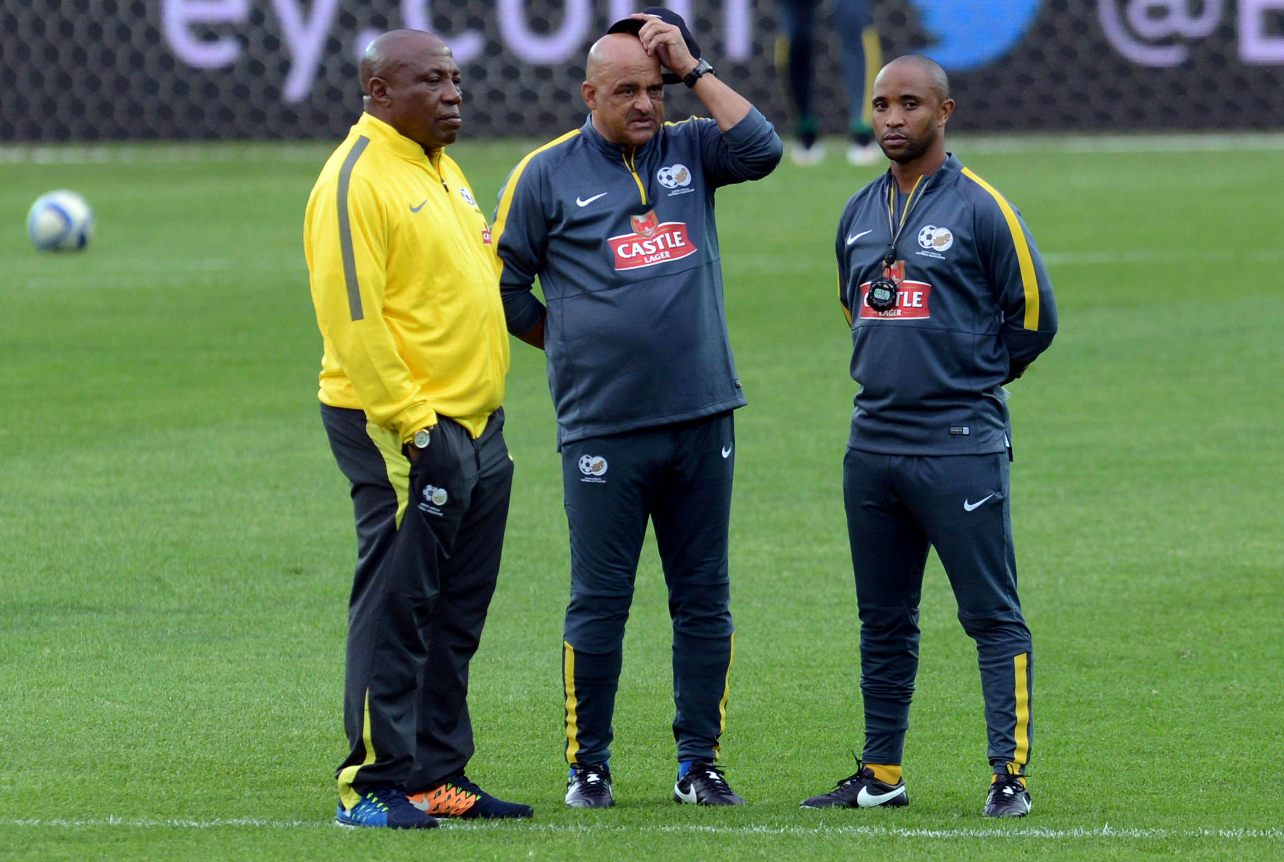 Shakes Mashaba with his assistants Owen Da Gama  and Thabo Senong. (Photo by Lefty Shivambu/Gallo Images)