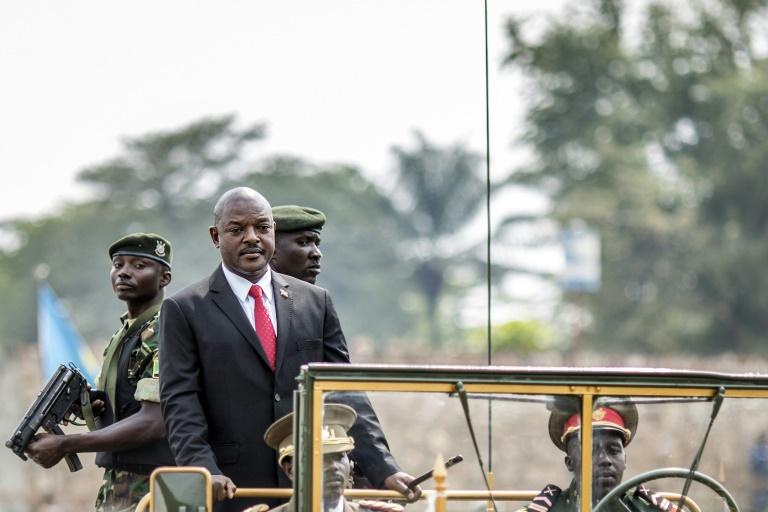 AFP/File / Marco Longari<br />Burundi's President Pierre Nkurunziza at the country's 53rd Independence Anniversary celebrations at Prince Rwagasore Stadium in Bujumbura on July 1, 2015