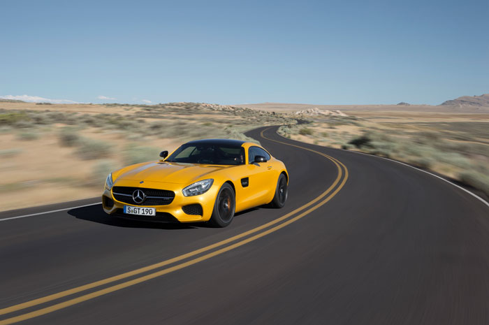 The Mercedes AMG GT was developed entirely in-house and has been engineered to give better balance. Picture: Supplied