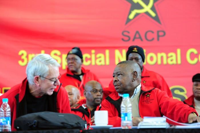 SACP 1st General Secretary, Jeremy Cronin (L) and SACP general secretary Blade Nzimande. Picture: Nigel Sibanda