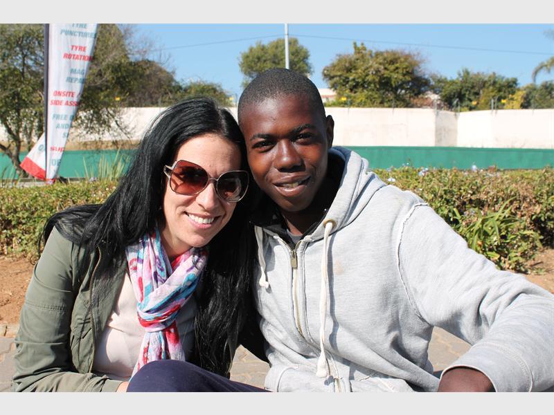 Pam Green and Joseph Phukube. Pic: Sandton Chronicle