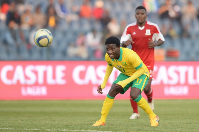 Siphelele Ntshangase during the 2016 African Nations Championship match between South Africa and Mauritius. (Photo by Lefty Shivambu/Gallo Images)