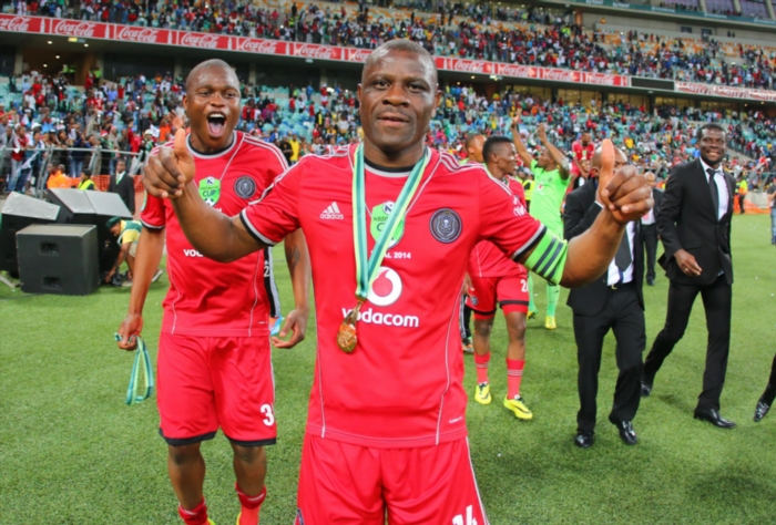 Lucky Lekgwathi of Orlando Pirates. (Photo by Anesh Debiky/Gallo Images)