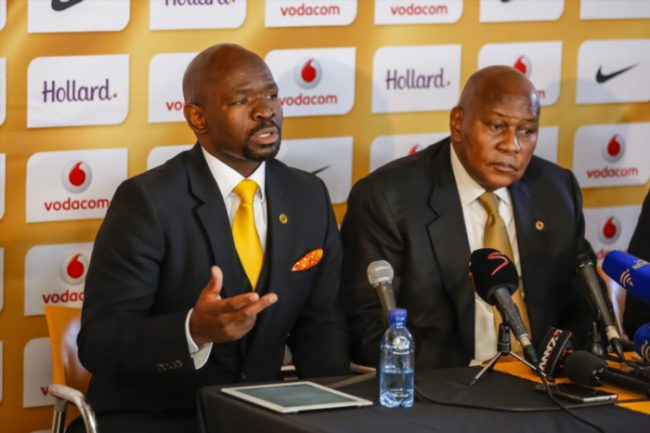 Kaizer Chiefs' Steve Komphela ( New coach) and Kaizer Motaung . (Photo by Dominic Barnardt/Gallo Images)