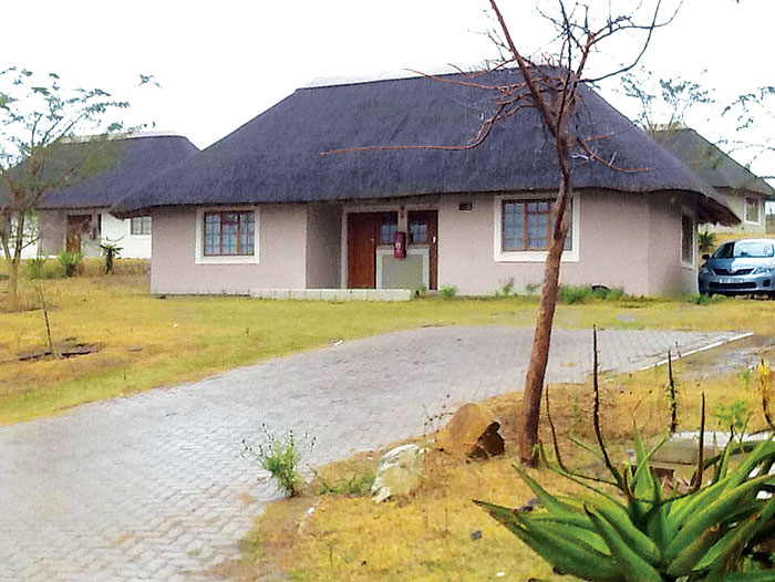 A view of one of the units of the 21 two-bedroom SA National Defence Force (SANDF) houses located outside the perimeter of President Jacob Zuma's private home in Nkandla, as posted to Twitter, 22 July 2015, by Rahima Essop of Eyewitness News. Picture: Rahima Essop/EWN