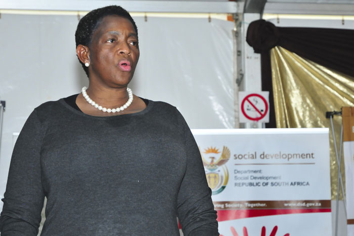 The Minister of Social Development Bathabile Dlamini at an awareness campaign on drug abuse. Picture: Christine Vermooten