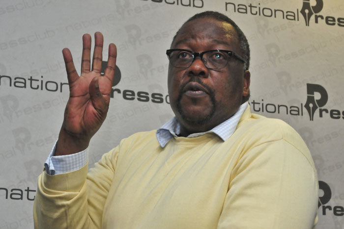 Minister of Police Nkosinathi Nhleko. Picture: Christine Vermooten