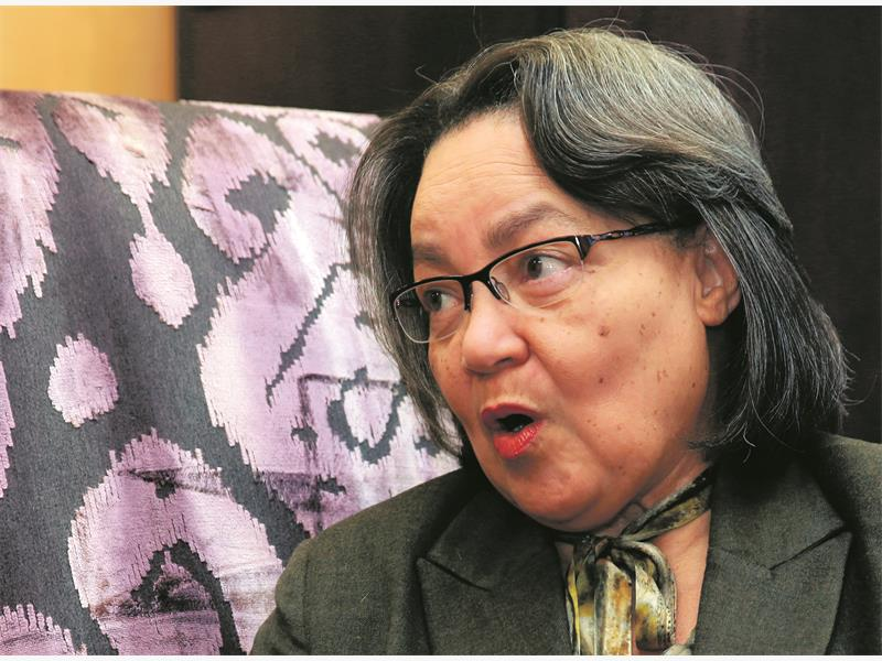 Interview with Cape Town mayor Patricia de Lille on Tuesday, 7 July 2015. Picture: NARDUS ENGELBRECHT