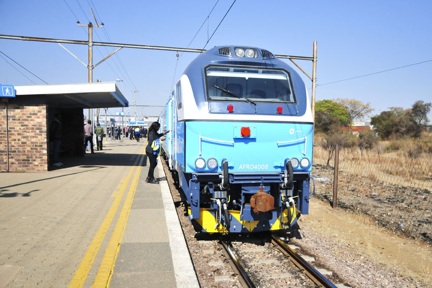 One of the Prasa newly aquired AFRO4000 locomotives at the Pretoria Central Station on 13 July 2015. Picture: Christine Vermooten