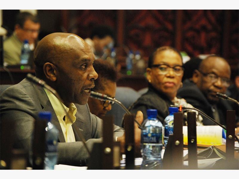 ANC MP Vincent Smith (left) with other MPs, Lindiwe Maseko and Mathole Motshekga. Picture:  Phumlani Thabethe