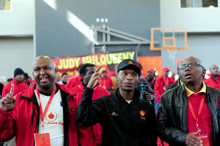 SACP  members sing at University of Johannesburg, Soweto, 10 July 2015,  on the last day of Congress Rules and Alliance Summit Declaration to the SACP 3rd Special Congress which begun on the 7th - 11 July 2015. Picture: Nigel Sibanda