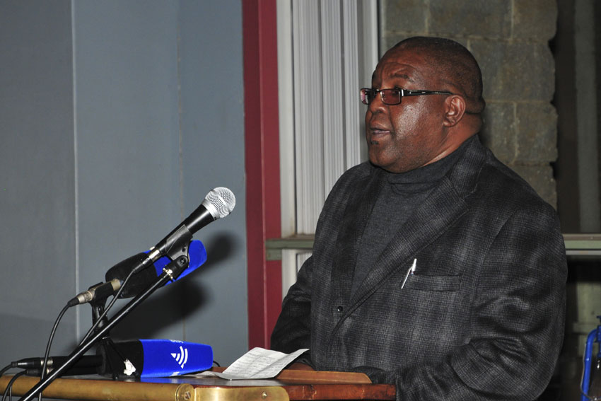 Swazi editor Bheki Makhubu who were imprisoned for two years after being convicted of contempt of court speaks at a welcoming reception for him and Thulani Maseko Swazi human rights lawyer on 16 July 2015 in Pretoria. Picture: Christine Vermooten