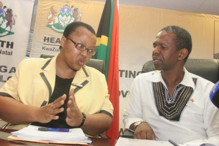 KwaZulu-Natal Health MEC Dr Sibongiseni Dhlomo and Health HOD Sibongile Zungu. (Photo by Gallo Images / Sowetan / Themba Mngomezulu)