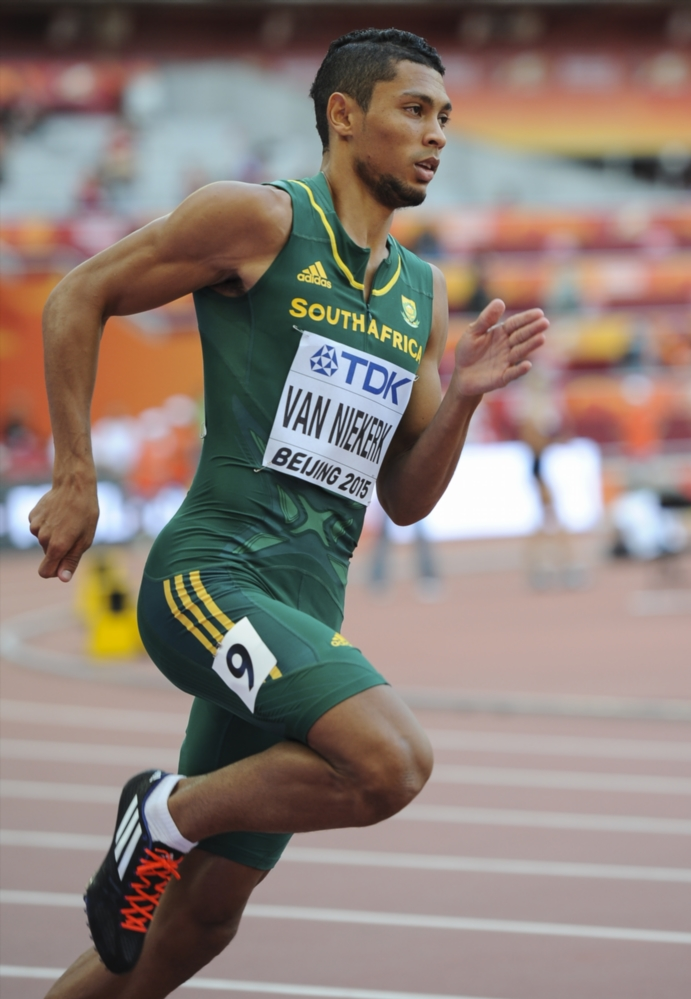 Wayde van Niekerk of South Africa in the mens 400m heats during day 2 of the 2015 IAAF World Championships at National Stadium on August 23, 2015 in Beijing, China. (Photo by Roger Sedres/Gallo Images)