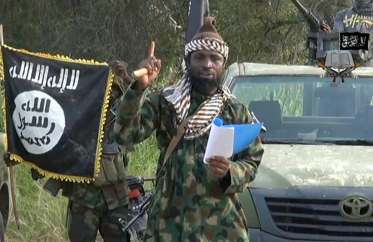 Boko Haram/AFP/File / -<br />Boko Haram leader, Abubakar Shekau delivering a speech