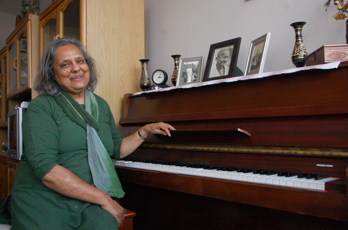 Ela Gandhi, the granddaughter of Mahatma Gandhi, poses for a photo during an interview with The Citizen at her home in Durban. Picture: Phumlani Thabethe