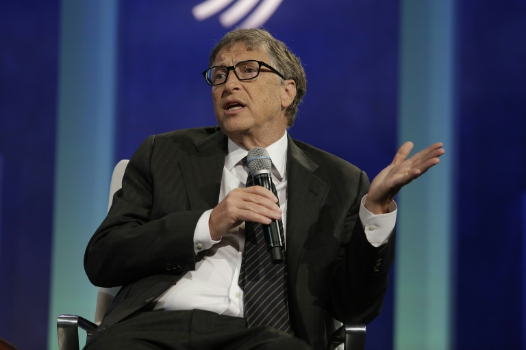 AFP/File / Joshua Lott<br />Bill Gates, pictured on September 27, 2015, is the wealthiest American with net worth of $76 billion, down $5 billion from 2014