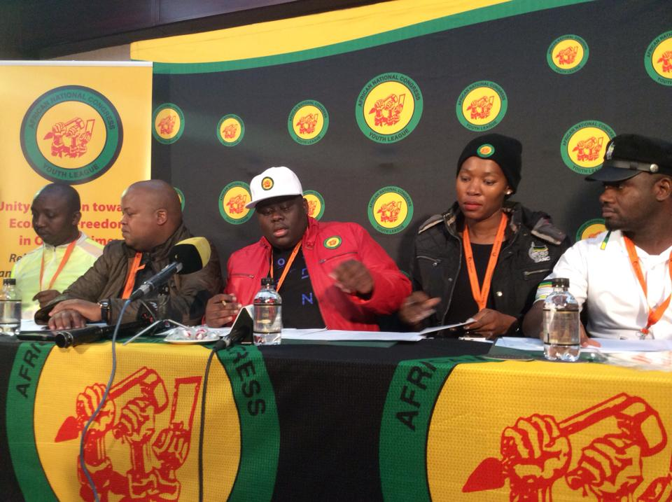 The newly elected ANC Youth League leadership. Picture: ANC Facebook