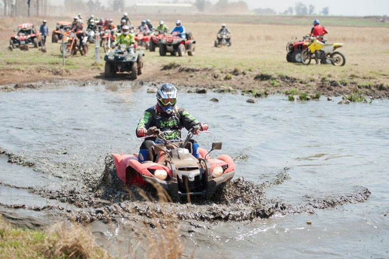 Quad biking for a cause. Picture: Supplied