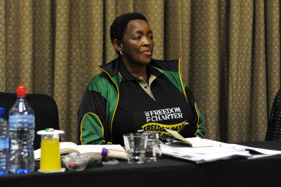 President of the ANC women's league Bathabile Dlamini is pictured, 13 September 2015, In Benoni, Johannesburg, at the woman's league Lekgotla. Picture: Alaister Russell