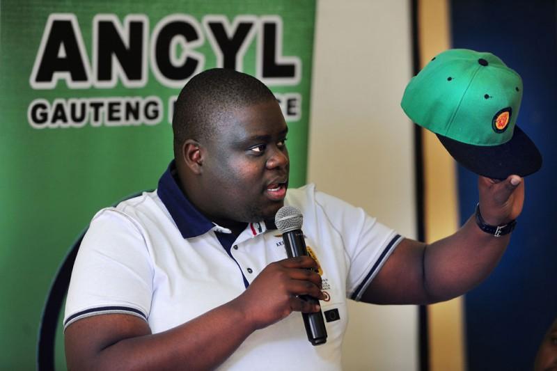 ANCYL secretary-general Njabulo Nzuza speaks to media in Johannesburg, 15 September 2015, at the Youth League 71 Anniversary birthday. Picture: Nigel Sibanda