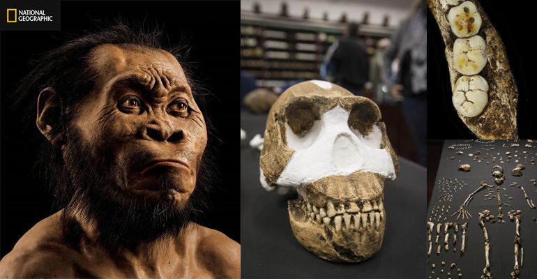 The reconstruction of the discovery of Homo Naledi at the Cradle of Humankind World Heritage Site in Maropeng in Gauteng, South Africa. Picture: Supplied