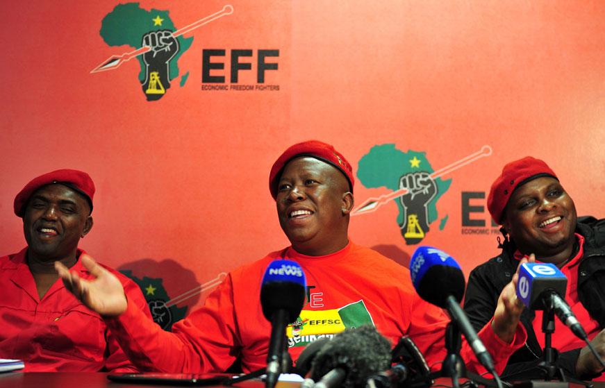 EFF commander-in-chief Julius Malema briefs the media. File Picture: Neil McCartney