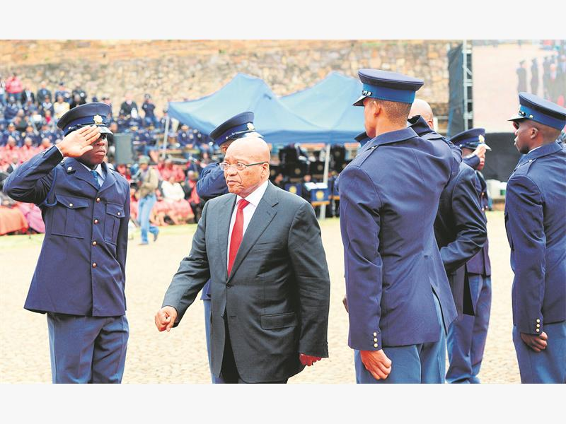 TAKING ACTION. President Jacob Zuma at a Commemoration Day event in memory of police officers who have died in the line of duty. Picture: Nigel Sibanda