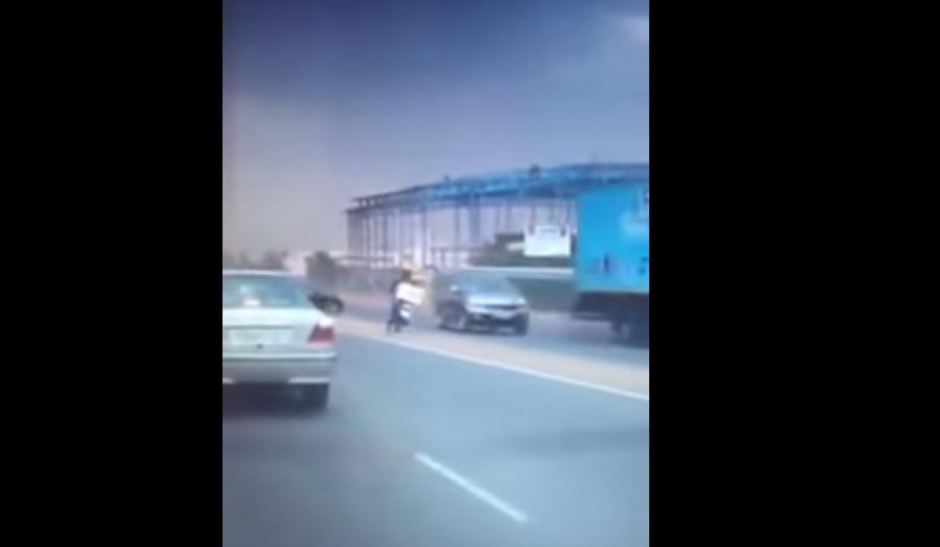 VIDEO: Dashcam captures horrific motorcycle crash