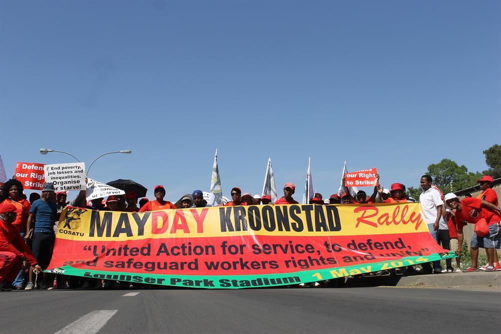 Cosatu march disrupts traffic in Bloemfontein