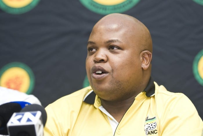 The ANCYL president Collen Maine speaks at a media briefing on 1 October 2015 in Pretoria on congress resolutions and other matters. Picture: Christine Vermooten