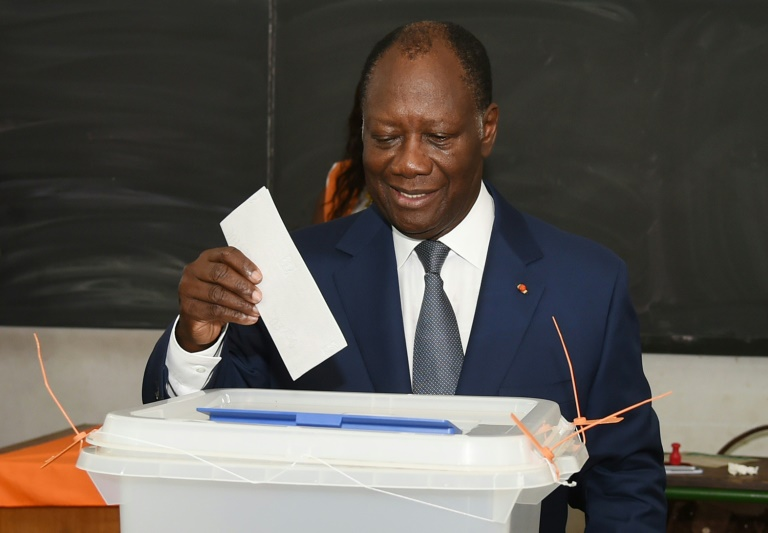 AFP/File / Sia Kambou<br />Ivorian President Alassane Ouattara casts his ballot in Cocody, a district of Abidjan, on October 25, 2015