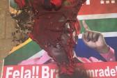 VIDEO: Front Nasionaal members set alight EFF shirt
