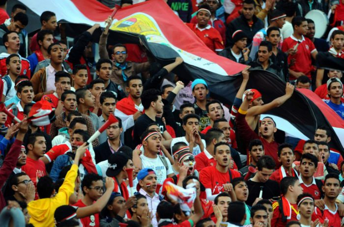 AFP/File / <br />Egyptian fans cheer on their team on November 17, 2015