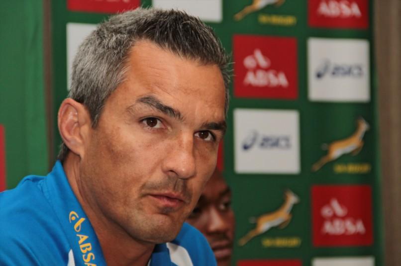Neil Powell (Coach) during the Springbok Sevens team announcement.