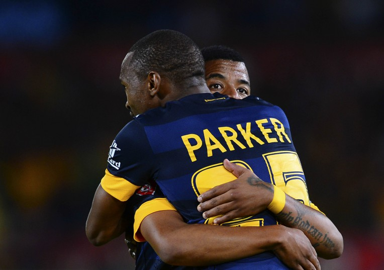 George Lebese and Bernard Parker of Kaizer Chiefs (Barry Aldworth/BackpagePix)