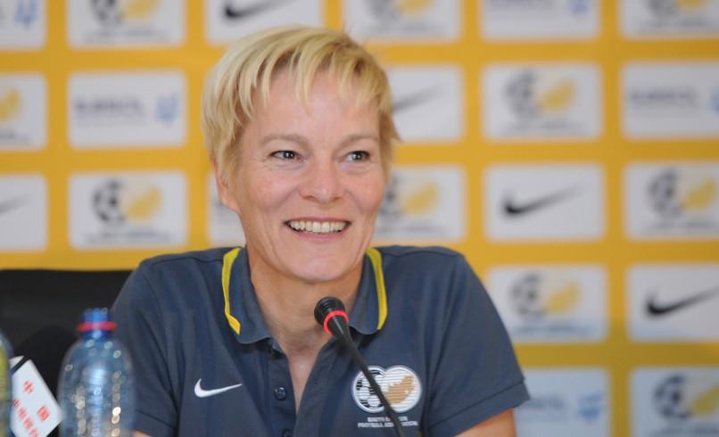 Vera Pauw, former coach of South Africa. Pic Sydney Mahlangu/ BackpagePix
