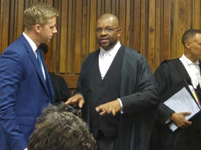 SA Idols judge Gareth Cliff in consultation with his legal representative Dali Mpofu at the South Gauteng High Court on Tuesday. PHOTO: Getrude Makhafola/ANA
