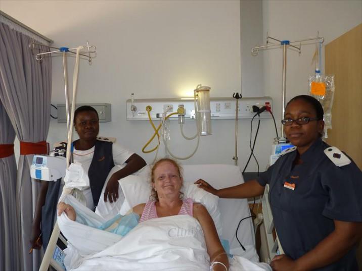 Crocodile attack survivor back in hospital
