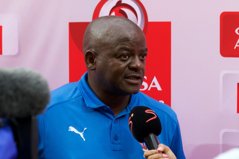 Daniel Malesela, coach of Chippa United. (Photo by Richard Huggard/Gallo Images)