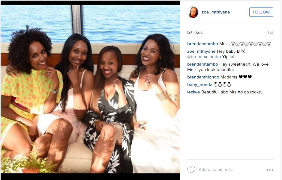 Zoe Mthiyane's Instagram post