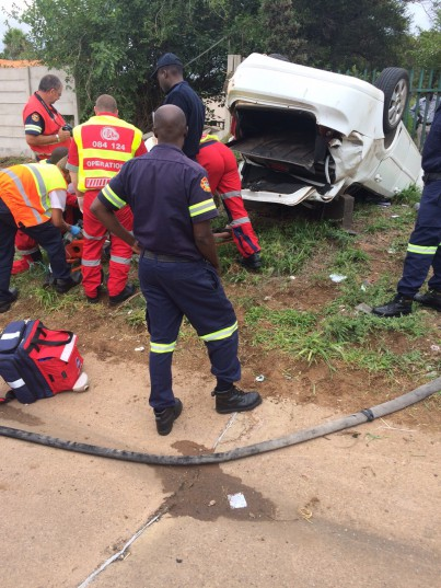 A police officer died after he was decapitated during an accident. Pic: Gauteng Traffic Police