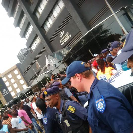 Nigerian Nationals, Police Standoff In Kempton Park