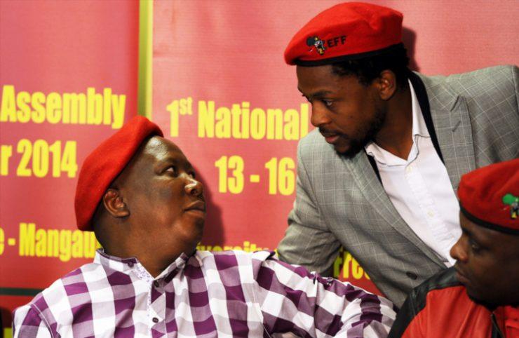 EFF leader Julius Malema (left) and  party spokesman Mbuyiseni Ndlozi (Photo by Gallo Images)