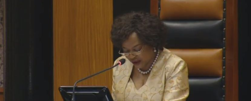 Mbete has had a busy start to the debate thus far
