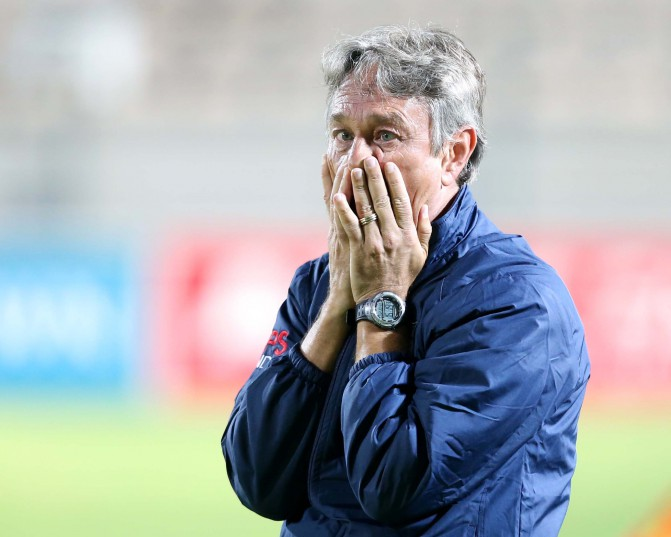 CAPE TOWN, SOUTH AFRICA - FEBRUARY 10: Ajax Cape Town coach Muhsin Ertugral. (Photo by Carl Fourie/Gallo Images)