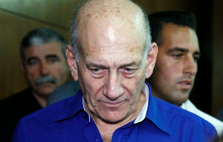 Pool/AFP/File / Finbarr O'Reilly<br />Former Israeli prime minister Ehud Olmert will serve a 19-month sentence for bribery and obstruction of justice
