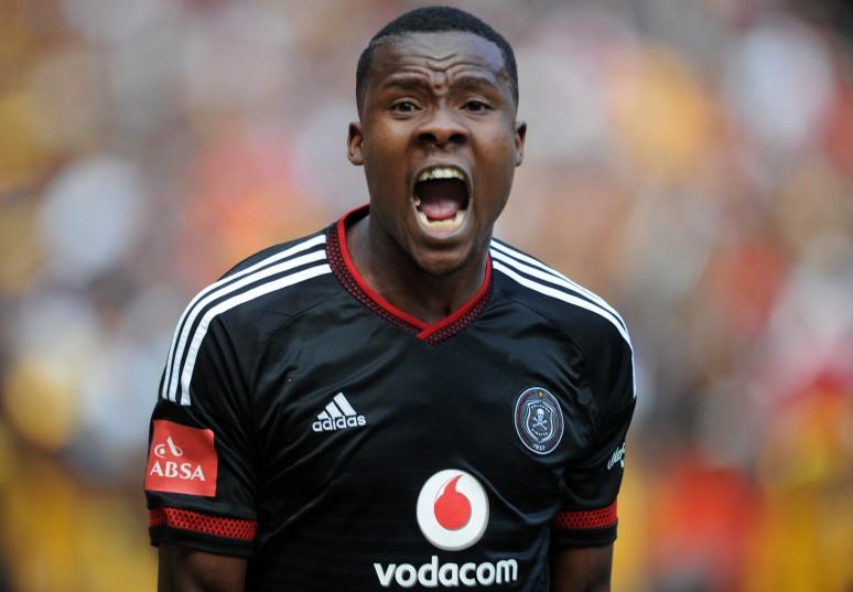 Thamsanqa Gabuza of Orlando Pirates  (Pic Sydney Mahlangu/ BackpagePix)