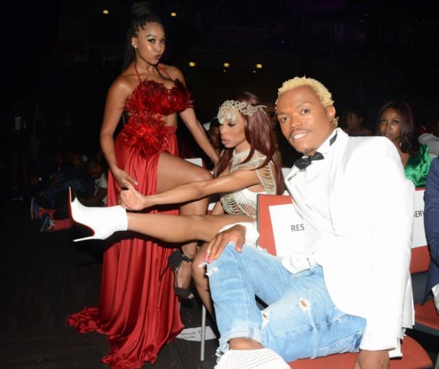 Minnie Dlamini,Khanyi Mbau and Somizi during the 2016 Metro FM Music Awards (MMAs) at iNkosi Albert Luthuli ICC on February 27, 2016 in Durban, South Africa. (Photo by Frennie Shivambu/Gallo Images)