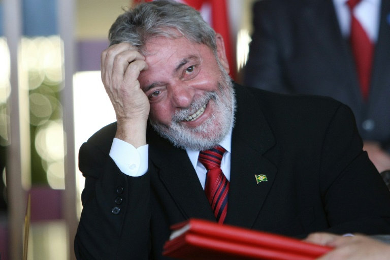 AFP/File / Adriano Machado<br />Luiz Inacio Lula da Silva was questioned over an embezzlement and bribery conspiracy centered on state oil company Petrobras